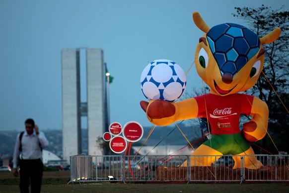 ब्राजील के 2014 में होनेवाले वर्ल्ड कप फुटबॉल का मैस्कॉट।
