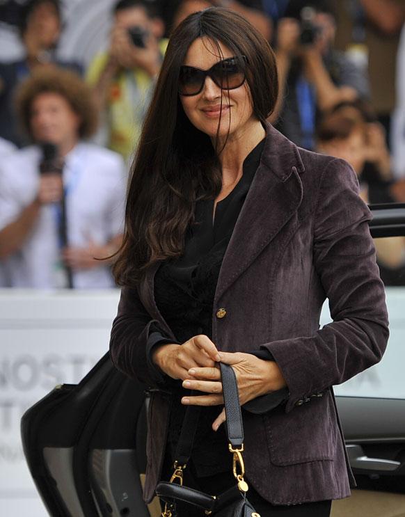 नॉर्थ स्पेन में इटालियन अभिनेत्री मोनिका बेल्लुस्सी 60वीं सेन सेबस्टियन फिल्म फेस्टिवल में शिरकत करने पहुंची।