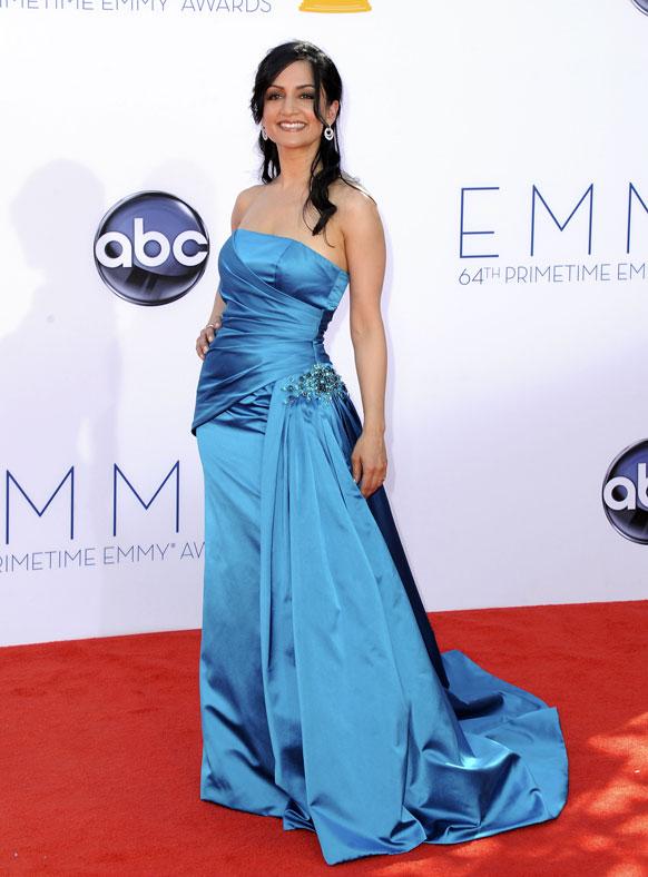 लॉस एंजिल्स में 64वां प्राइम टाइम एम्मी अवॉर्ड समारोह में पंजाबी अभिनेत्री।