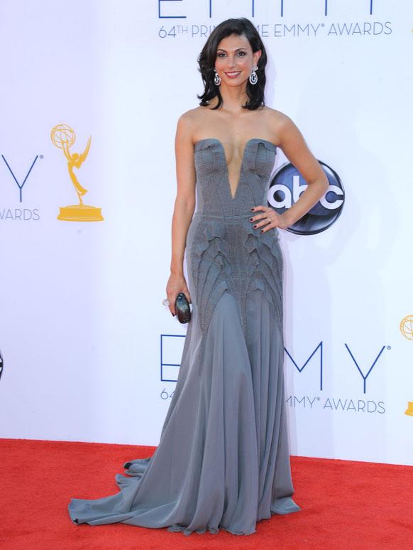 लॉस एंजिल्स में 64वां प्राइम टाइम एम्मी अवॉर्ड समारोह में अभिनेत्री मॉरेना बेक्कारीन ।