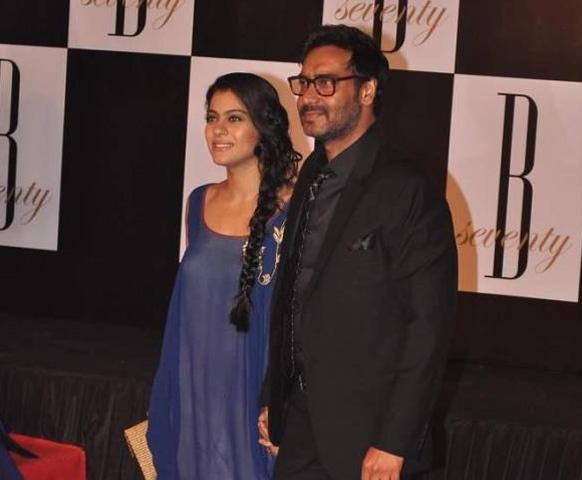 काजोल अपने पति अजय देवगन के साथ।