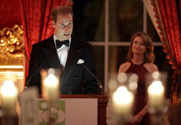 लंदन में एक समारोह के दौरान राजकुमार प्रिंस विलियम्स।