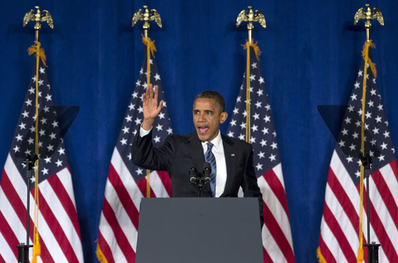 मियामी में चुनाव प्रचार करते अमेरिकी राष्ट्रपति बराक ओबामा।