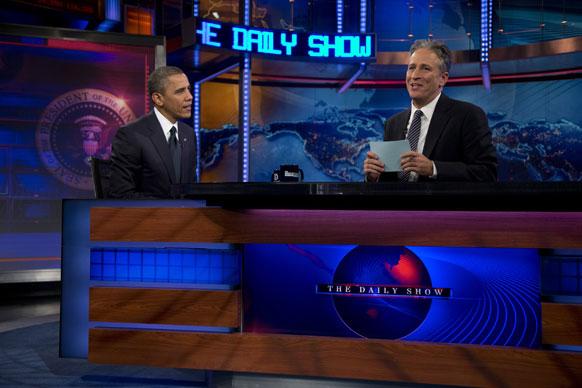 न्यूयार्क के एक टीवी कार्यक्रम में भाग लेते राष्ट्रपति बराक ओबामा।