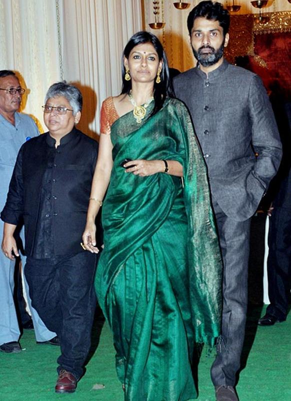 समारोह में अपने पति सौम्य सेन के साथ शिरकत करते हुए अभिनेत्री नंदिता दास।