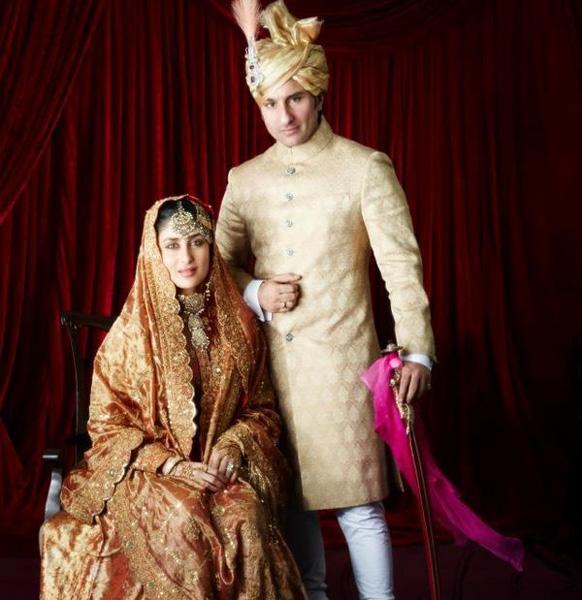सैफ अली खान और करीना की शादी की तस्वीर।