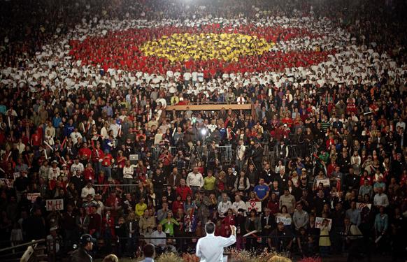 अमेरिका के कोलेराडो में अपने चुनावी अभियान के दौरान एक रैली को संबोधित करते हुए रिपब्लिकन उम्मीदवार मिट रोमनी।
