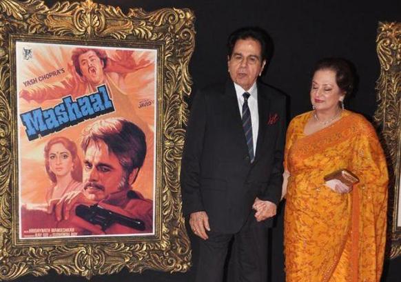 प्रीमियर के मौके पर दिलीप कुमार और सायरा बानो।