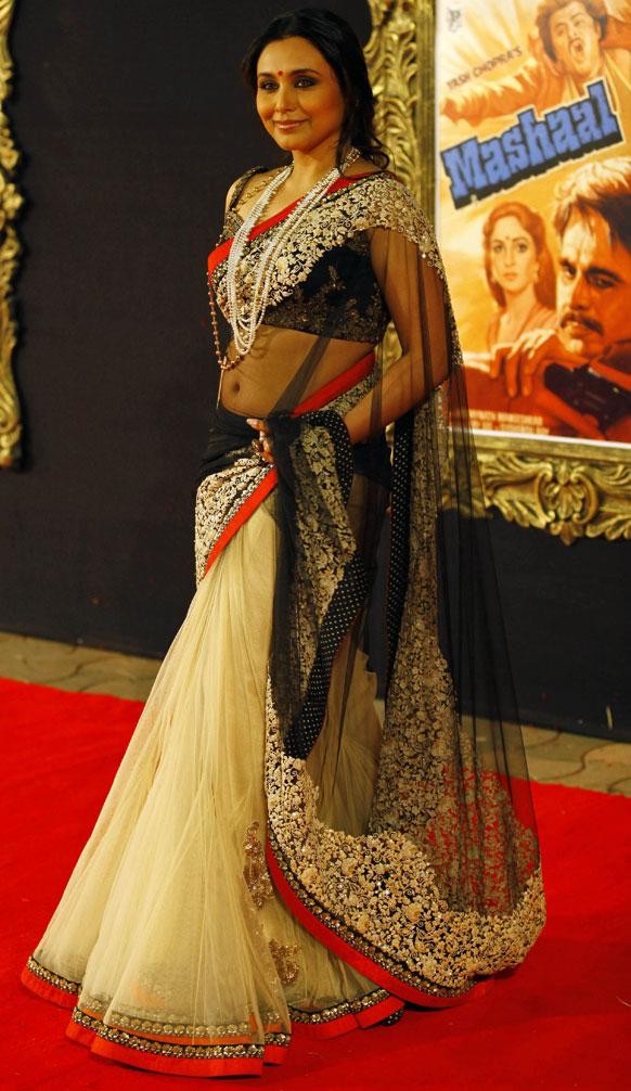 प्रीमियर के मौके पर बॉलीवुड अभिनेत्री रानी मुखर्जी भी पहुंचीं।