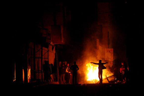 बाका फिलिस्तीनी रिफ्यूजी कैंप का एक दृश्य जहां दंगे भड़क गए।