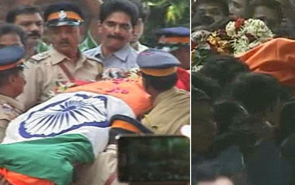 बाल ठाकरे का अंतिम संस्कार राजकीय सम्मान के साथ किया गया।