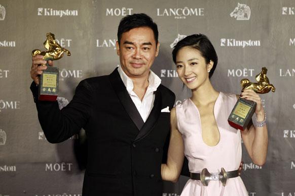 ताइवान में 49वां गोल्डन होर्स अवॉर्ड जीतने के बाद ताइवान के अभिनेत्री और अभिनेता।