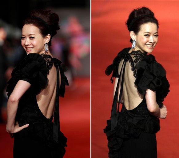 ताईवान में 49वां गोल्डन होर्स अवॉर्ड में इस अंदाज में पहुंची हॉन्गकांग अभिनेत्री बोवाई तसांग।