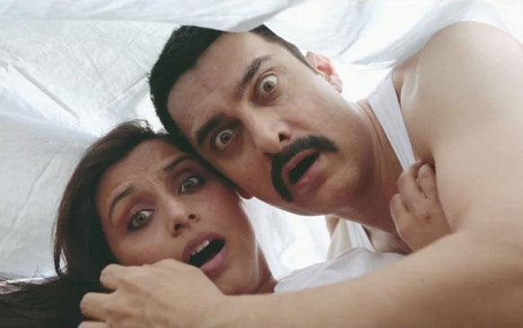 फिल्म तलाश के एक सीन में आमिर खान और रानी मुखर्जी।