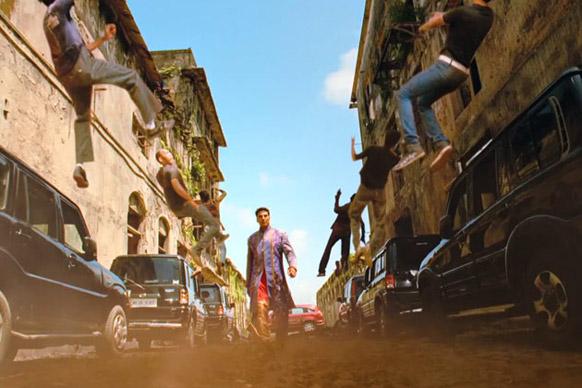 फिल्म 'खिलाड़ी 786' के एक सीन में अक्षय कुमार।