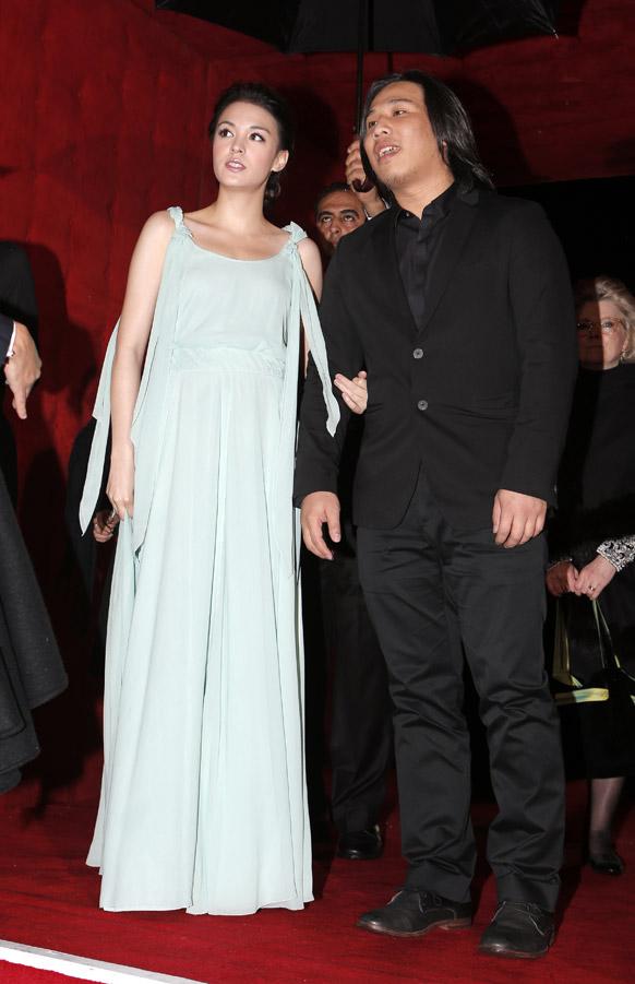 मराकेश इंटरनेशनल फिल्म फेस्टिवल में फिल्म डायरेक्टर चांग जुंग चाई और ताइवान की अभिनेत्री सनड्रीन पिन्ना।