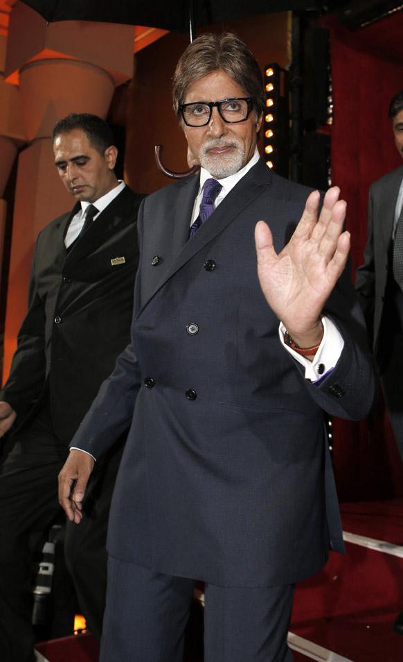 मराकेश इंटरनेशनल फिल्म फेस्टिवल में बॉलीवुड अभिनेता अमिताभ बच्चन।