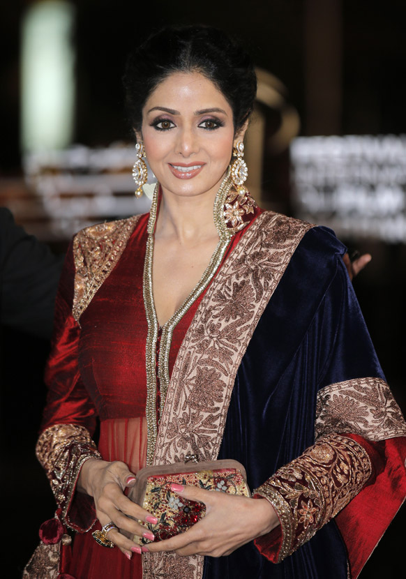 मराकेश इंटरनेशनल फिल्म फेस्टिवल में बॉलीवुड अभिनेत्री श्रीदेवी।