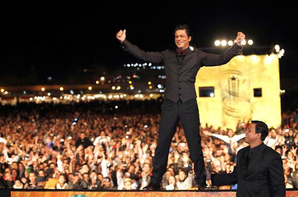 मराकेश इंटरनेशनल फिल्म फेस्टिवल में बॉलीवुड अभिनेता शाहरूख खान।