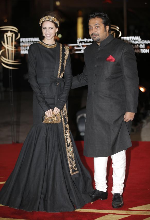 मराकेश इंटरनेशनल फिल्म फेस्टिवल में अनुराग कश्यप और कल्की कोल्चिन।