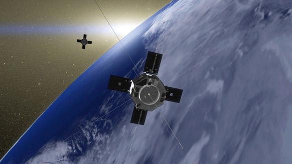 नासा द्वारा उपलब्ध कराई गई तस्वीर में गॉडर्ड स्पेस फ्लाइट सेंटर शो में पृथ्वी की कक्षा में गायन करते वॉन एलेन के कलाकार।