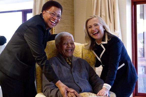 दक्षिण अफ्रीका के पूर्व राष्ट्रपति नेल्सन मंडेला।