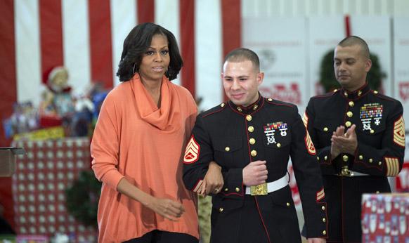 अमेरिका के प्रथम महिला मिशेल ओबामा।