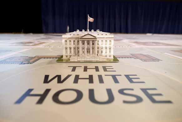 अमेरिका का एक व्हाइट हाउस का एक खूबसूरत मॉडल बनाया गया।