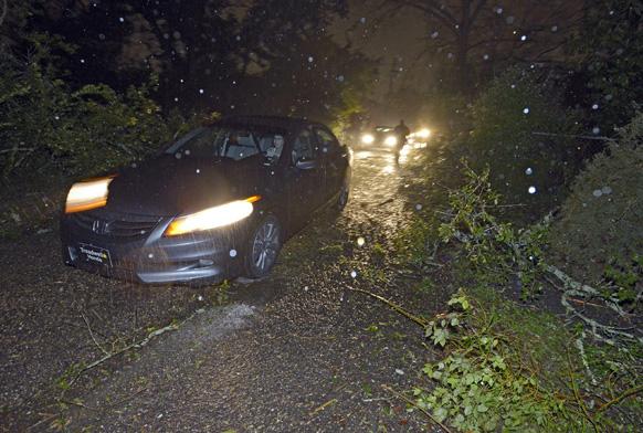 अलास्का में तूफान से मची तबाही।