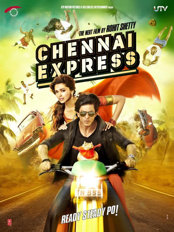 यूटीवी मोशन पिक्चर्स ने फिल्म चेन्नई एक्सप्रेस की पोस्टर को जारी किया और लिखा 'चेन्नई एक्सप्रेस की आधिकारिक फोटो 2' । (@iamsrk and @deepikapadukone