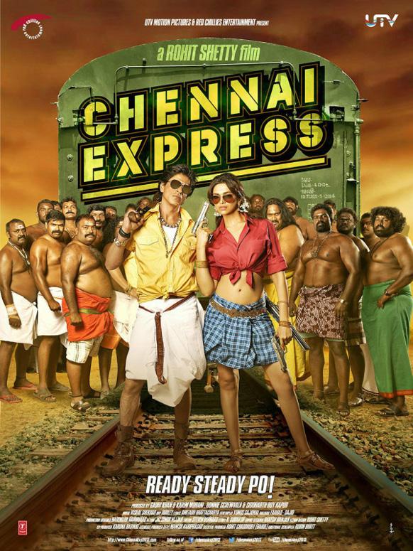 यूटीवी मोशन पिक्चर्स ने फिल्म चेन्नई एक्सप्रेस की पोस्टर को जारी किया और लिखा 'चेन्नई एक्सप्रेस की आधिकारिक फोटो 3' । (@iamsrk and @deepikapadukone