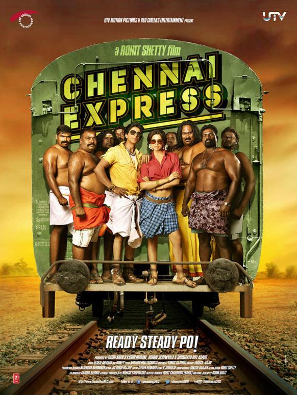 यूटीवी मोशन पिक्चर्स ने फिल्म चेन्नई एक्सप्रेस की पोस्टर को जारी किया और लिखा 'चेन्नई एक्सप्रेस की आधिकारिक फोटो 4' । (@iamsrk and @deepikapadukone