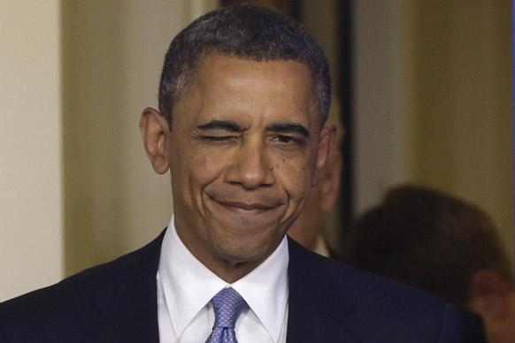 वाशिंगटन में फिस्कल क्लिफ के दौरान प्रेस को संबोधित करते हुए अमेरिकी राष्ट्रपति बराक ओबामा।