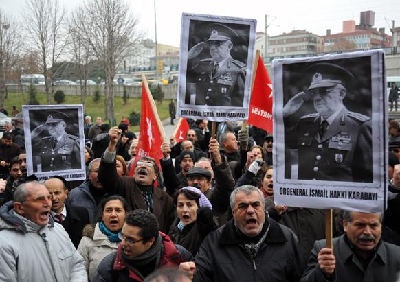 टर्की में विरोध प्रदर्शन।