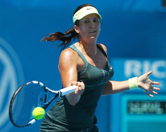 सिडनी इंटरनेशनल टेनिस टूर्नामेंट के दौरान स्वीडन की सोफिया अर्विंडसन।