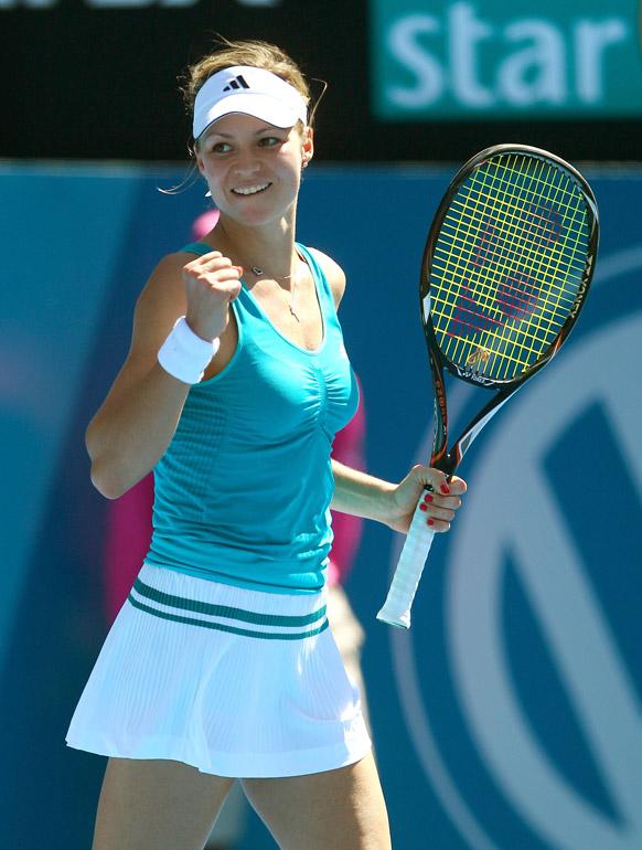 सिडनी इंटरनेशनल टेनिस टूर्नामेंट के दौरान रूस की मारिया किरिलेनको।