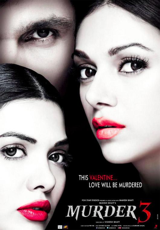 फिल्म मर्डर-3 की फर्स्ट रिलीज पोस्टर जो 15 फरवरी को रिलीज हो रही है।