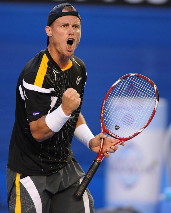 ऑस्ट्रेलियन ओपन टेनिस टूर्नामेंट 2013 के दौरान ऑस्ट्रेलिया के ल्यूटन हैविट।