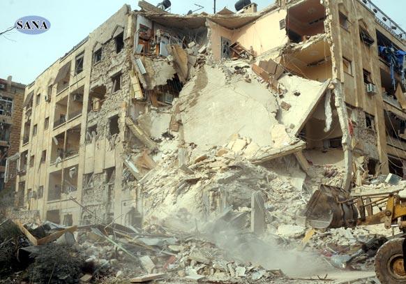 सीरिया के अलप्पो में रॉकेट हमले में 12 लोगों की मौत हो गई थी।