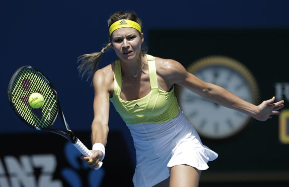 ऑस्ट्रेलियन ओपन टेनिस टूर्नामेंट 2013 के दौरान रूस की खिलाड़ी मारिया किरिलेंको।