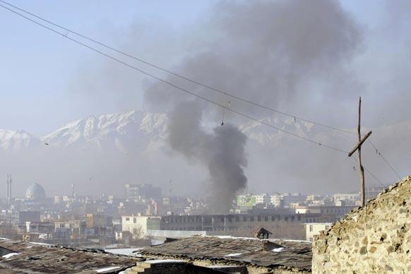 काबुल में तालिबान के हमले के बाद का एक दृश्य।