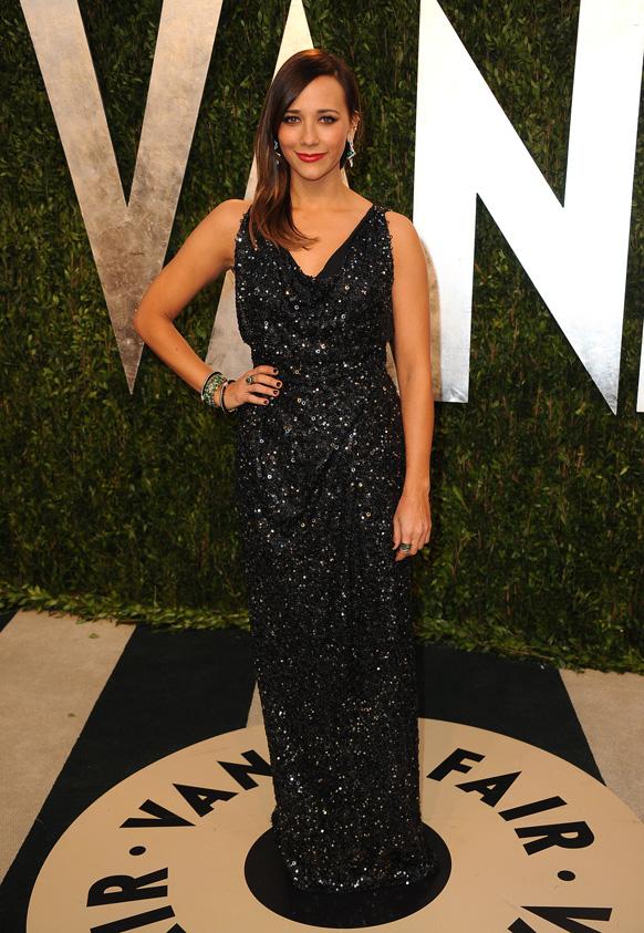 कैलिफोर्निया में वेनिटी फेयर ऑस्कर पार्टी 2013 में अभिनेत्री रशिदा जॉन।