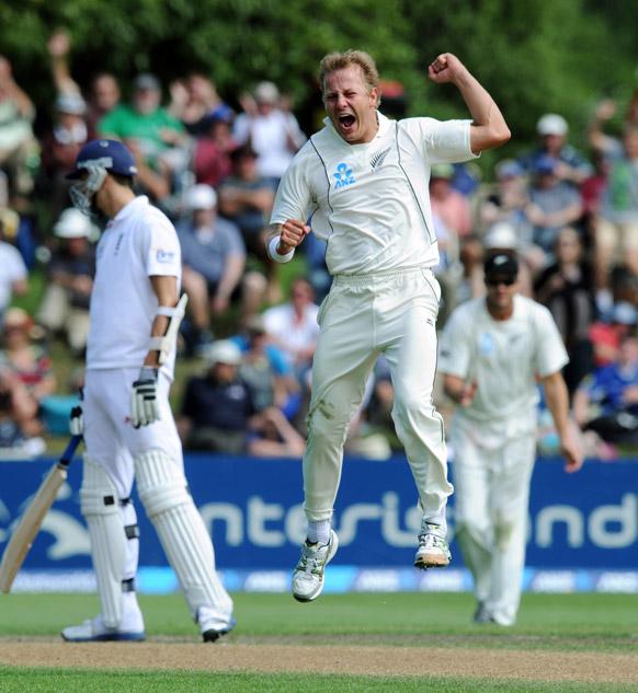न्यूजीलैंड और इंग्लैंड टेस्ट मैच।