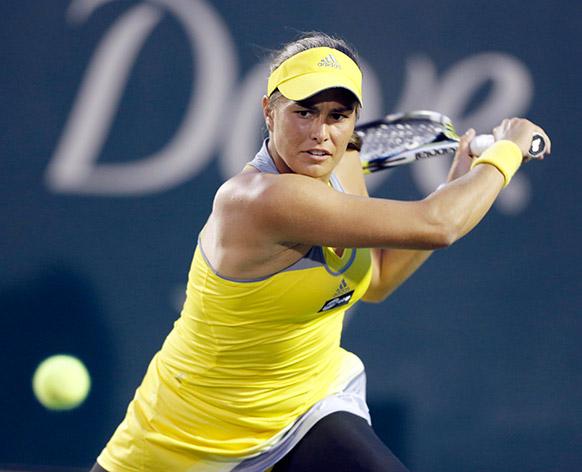 फैमिली सर्किल कप टेनिस टूर्नामेंट के दौरान मोनिका पुइग।