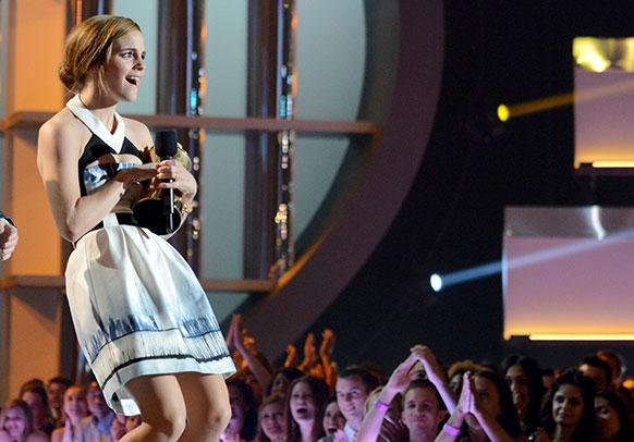 MTV मूवी अवॉर्ड्स के दौरान अदाकारा एम्मा वाटसन।