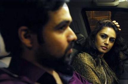 फिल्म एक थी डायन के एक सीन में इमरान हाशमी और हुमा कुरैशी।