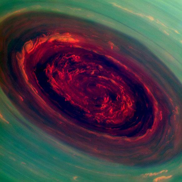 नासा द्वारा जारी एक तस्वीर में शनि ग्रह के एक हिस्से की तस्वीर ली गई है।