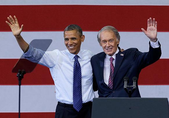 बोस्टन के एक कार्यक्रम में शिरकत करते अमेरिकी राष्ट्रपति बराक ओबामा।