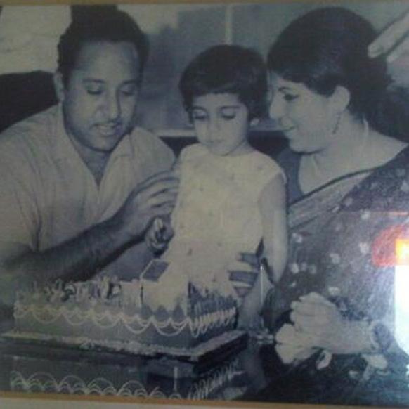 फरहा खान की बचपन की तस्वीर।