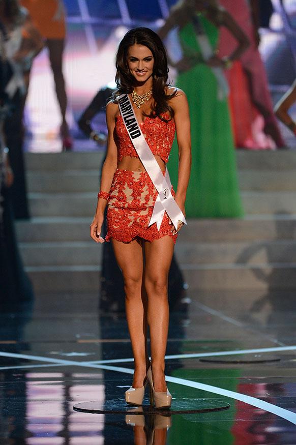 लॉस वेगास में मिस यूएसए 2013 प्रतियोगिता के दौरान मिस मैरीलैंड।